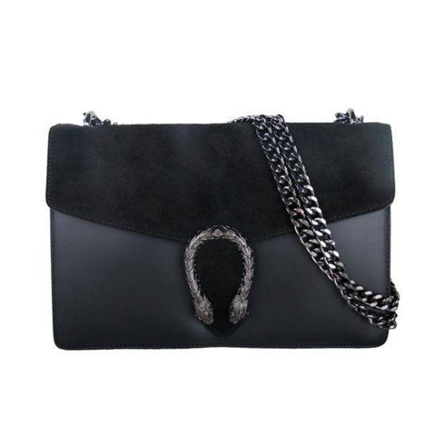 Dion Shoulder Leather Bag Black