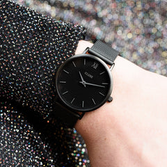 Cluse La Bohème Mesh Full Black Watch