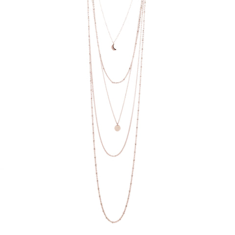 Layered Tusky Necklace Gold