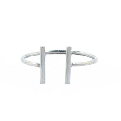 Silver Double Bar Ring