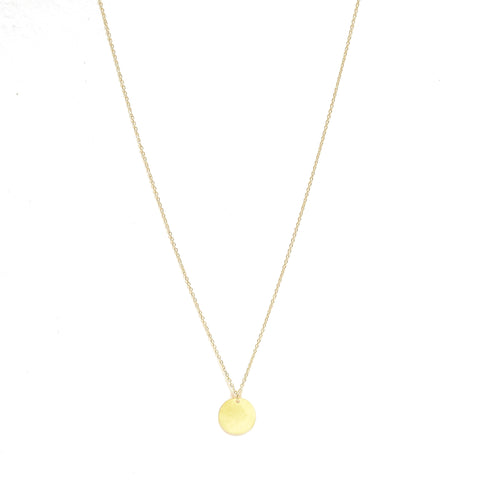Coin Necklace Long Gold