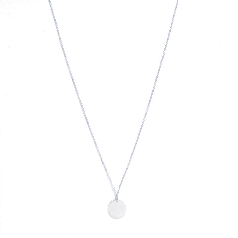 Coin Necklace Long Silver