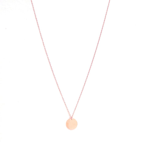 Coin Necklace Long Rose Gold