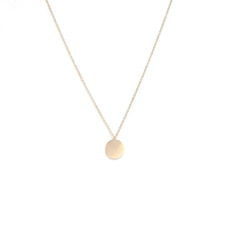 Coin Necklace Short Gold