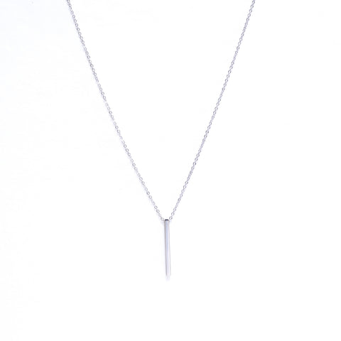 Hanging Bar Necklace Silver