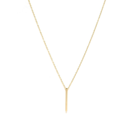 Hanging Bar Necklace Gold