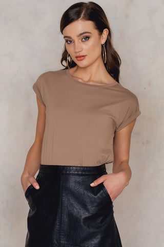 Basic Cap Sleeve Top Mauve NA-KD
