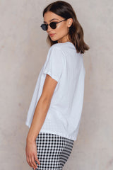 Basic Oversized Tee White NA-KD
