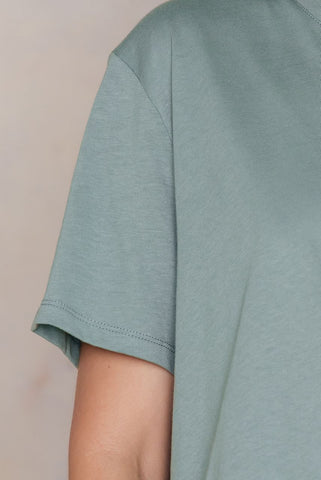 Basic Oversized Tee Duck Green NA-KD