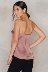 Chiffon Detailed Singlet Dusty Pink NA-KD