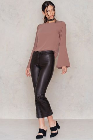 Wrap Me Tight Blouse Black