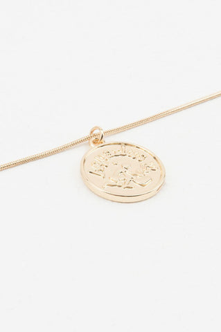 Zodiac Aquarius Necklace Gold NA-KD