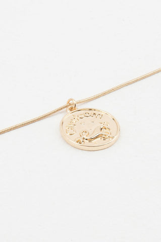 Zodiac Capricorn Necklace Gold NA-KD