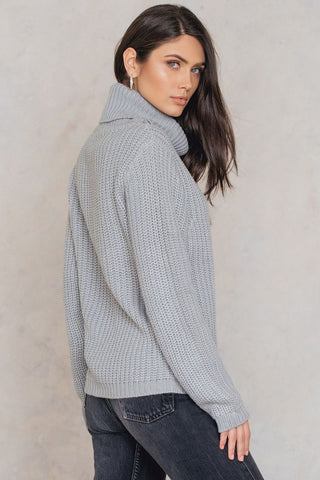 Tinelle Rollneck Knit Light Grey