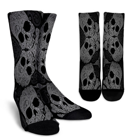 Black Skull Socks