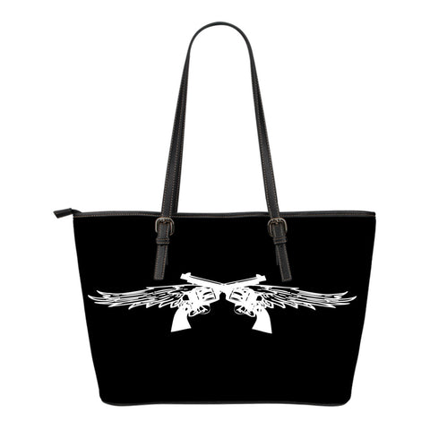 Pistol Wings Leather Tote