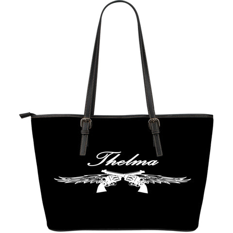 Thelma and Louise Leather Tote Large Script