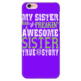 My Sister Cell Case Purple