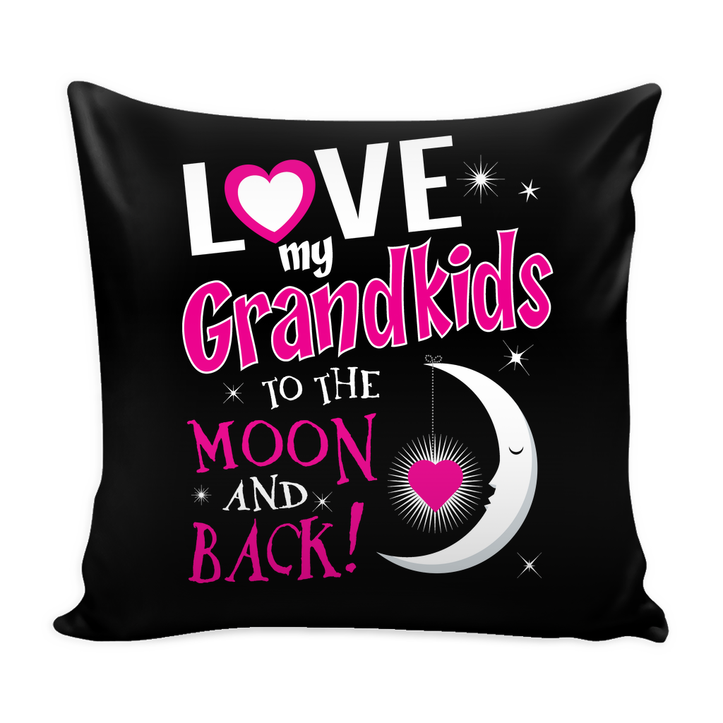 Love My Grandkids To The Moon And Back Pillow Cover