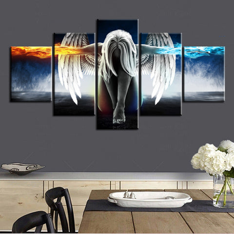 Angel Fire and Ice Canvas