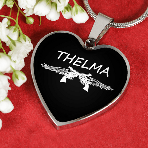 Thelma Heart Necklace And Bangle Bracelet