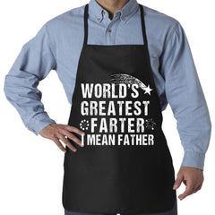 World's Greatest Farter I Mean Father Apron