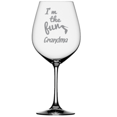 I'm The Fun Grandma Wine Glass