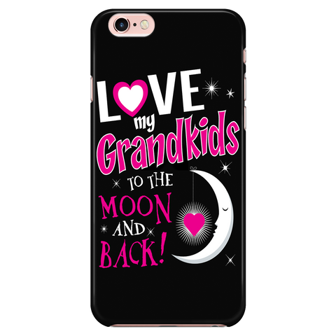 Love My Grandkids To The Moon And Back Cell Phone Case