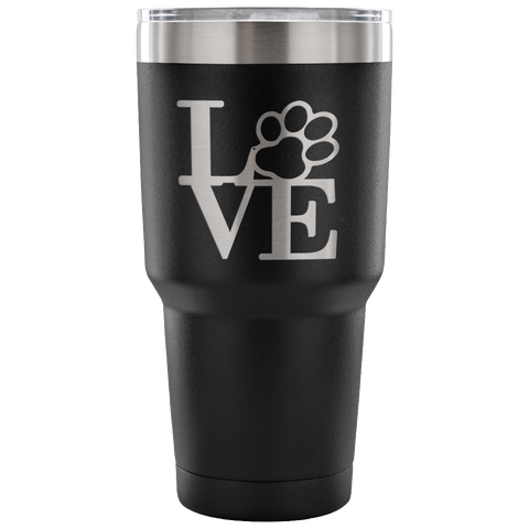 Dog Paw Love Tumbler