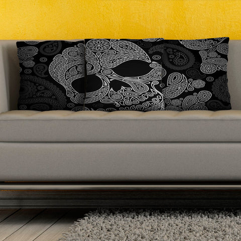 Black Skull Pillow Cover Collection