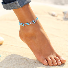 Vintage Gold and Silver Anklets