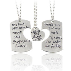 Daddy's Girl Mama's World Necklaces - Key Chains