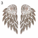Angel Wings Rhinestone Ear Studs