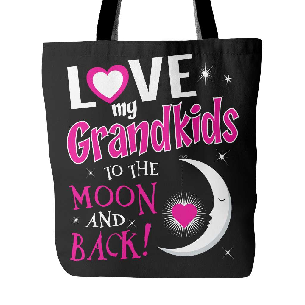 Love My Grandkids To The Moon And Back Tote Bag
