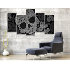 Black Skull Canvas