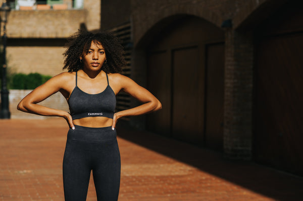 Aki Sports Bra - Smoke