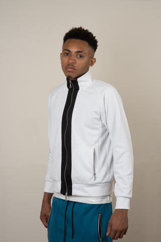 Tracksuit Jacket - White/Black