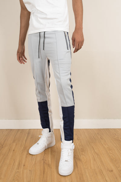 Tracksuit Pants - Navy/Silver/White - CommeMoi