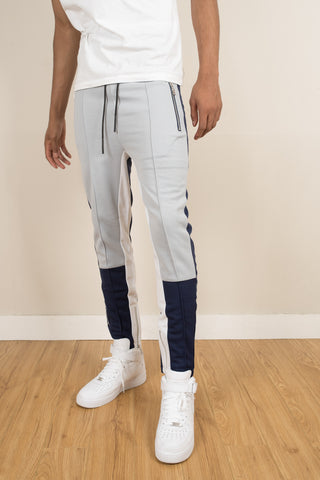 Tracksuit Pants - Navy/Silver/White