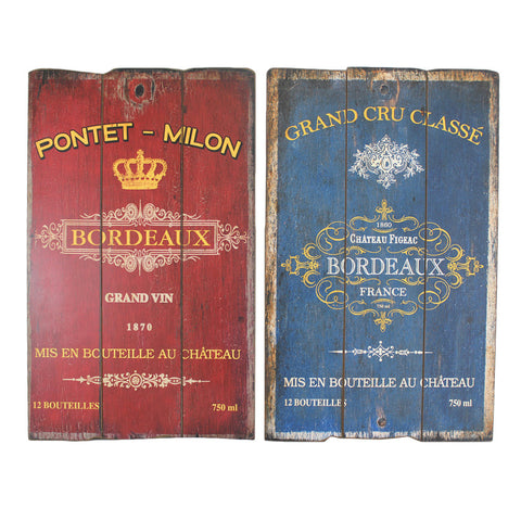 French Bordeaux Signs