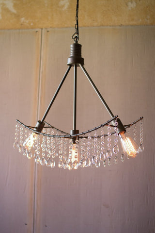 Metal Double Sided Pendant Light