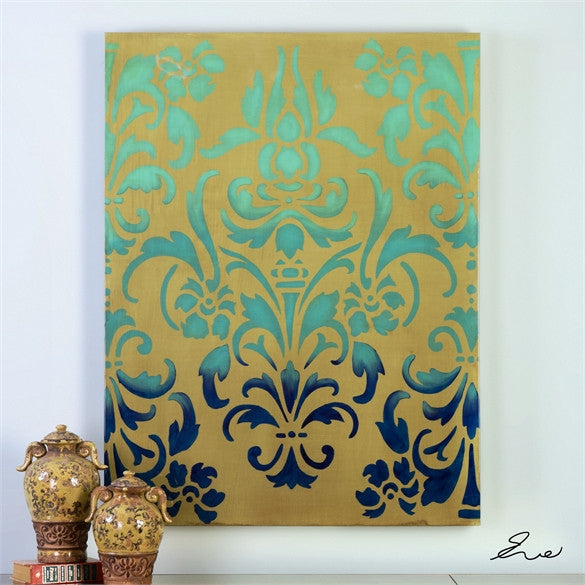 Blue Ombre Stencil Art