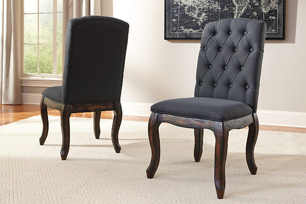Trudell Dark Grey Dining Room Chair