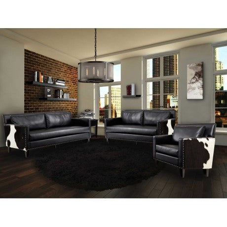 Dallas Leather Cowhide Loveseat