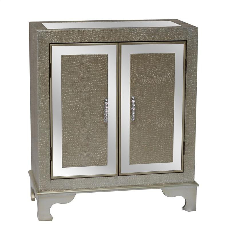 Diamond Silver Crocodile Cabinet