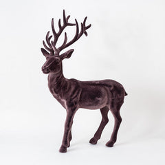 Flocked Deer Decor
