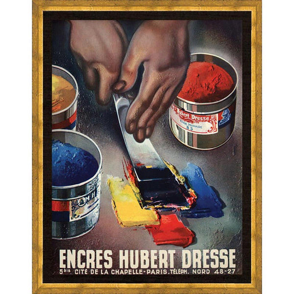 Encres Hubert (French Poster)