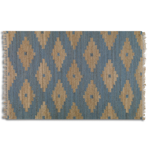 Distressed Diamond Rug 8x10