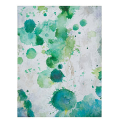 watercolor spots of various shades of green
