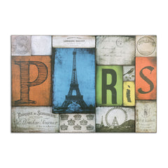 This composite artwork is made of wooden signs all about Paris!